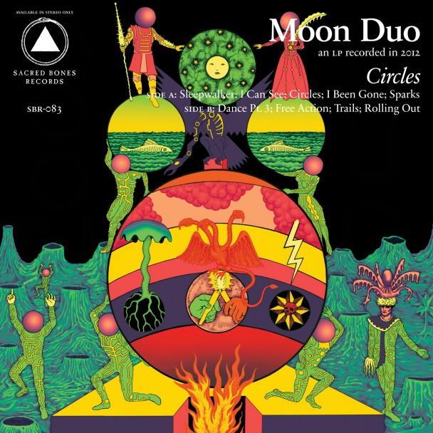 moon duo circles 608x608 New Music: Moon Duo   Sleepwalker