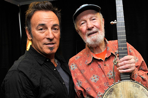 pete seeger bruce springsteen Pete Seeger announces two new albums: A More Perfect Union and Pete Remembers Woody