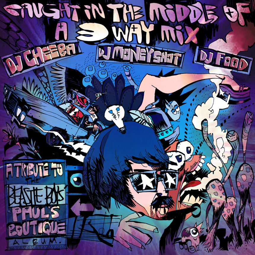 caughtinthemiddleofa3waymix colourweb New Music: Beastie Boys Pauls Boutique remade from original samples