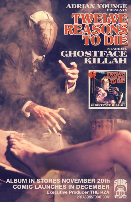 ghostface twelvereasons Ghostface Killah announces new solo album: Twelve Reasons To Die