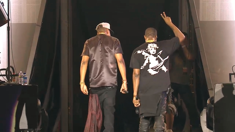kanye jayz Video: Kanye Wests G.O.O.D. Music performs at Made in America