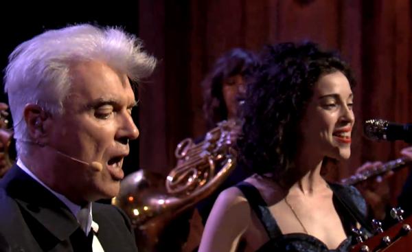 stvincent david byrne fallon Video: David Byrne & St. Vincent on Jimmy Fallon