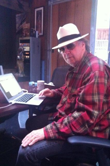 neil tweeting Recapping Neil Youngs inaugural Twitter Q&A