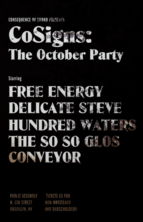 CoSigns: The October Party: DJs and Set Times announced