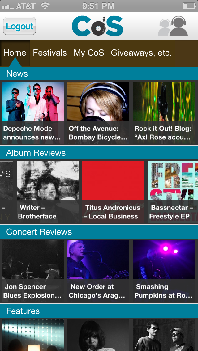 photo New Consequence of Sound mobile app update available for download