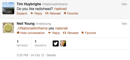 screen shot 2012 10 24 at 2 42 24 pm Recapping Neil Youngs inaugural Twitter Q&A