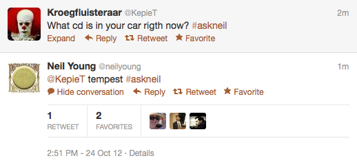 screen shot 2012 10 24 at 2 53 13 pm Recapping Neil Youngs inaugural Twitter Q&A