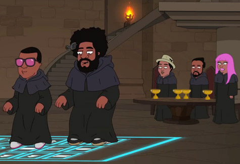 cleveland show illuminati Video: Kanye West, ?uestlove, and Nicki Minaj on The Cleveland Show