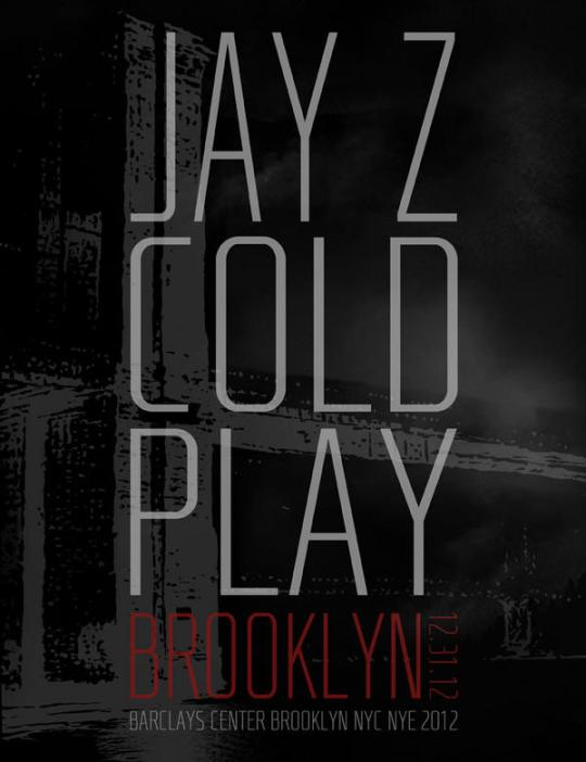 coldplay jayz nye flyer Jay Z and Coldplay team up for New Years Eve show