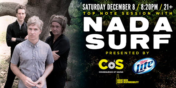 nada surf top note Nada Surf to play Top Note Session on December 8th
