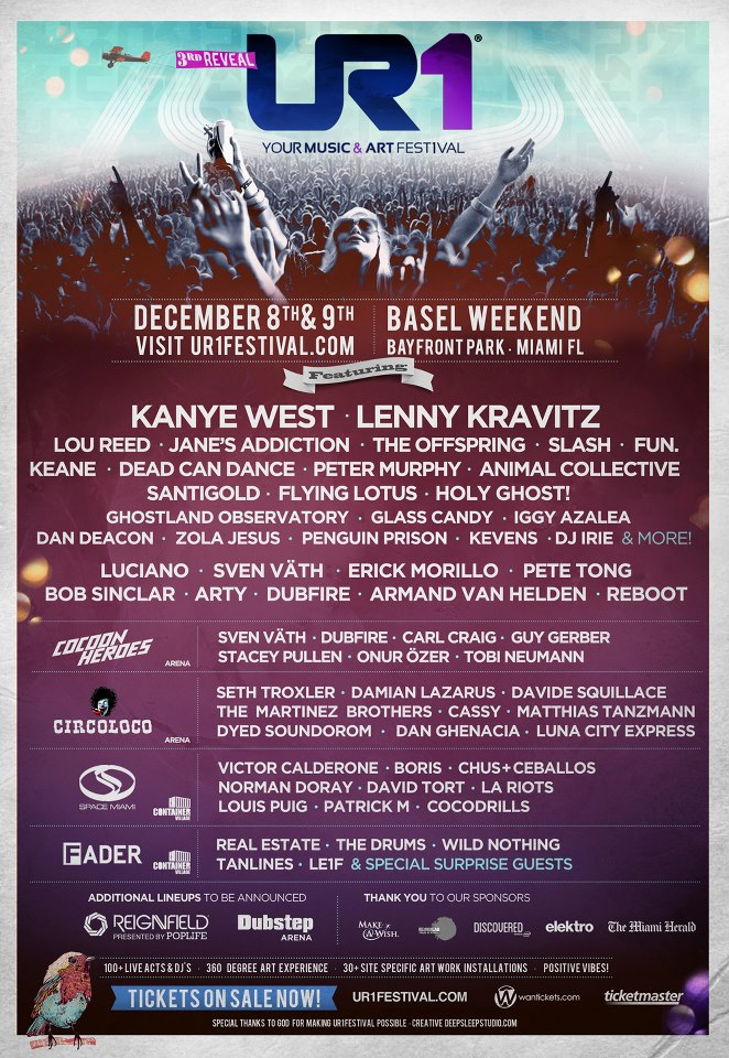 ur1 lineup Win tickets to Miamis UR1 Music Festival