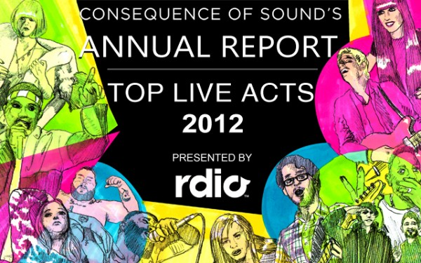 annual report live e1354828544653 Top Live Acts of 2012