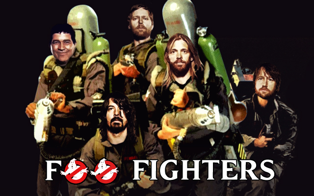 foo fighters ghostbusters feat 2 Watch Foo Fighters cover Led Zeppelins Rock and Roll