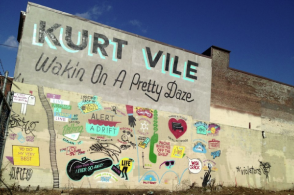 kurt vile wakin e1356017484924 Kurt Vile confirms new album title via Philadelphia street mural