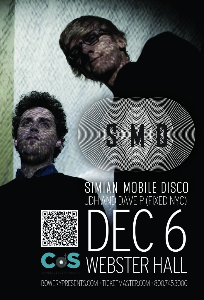 simianmobiledisco4x61 696x1024 Consequence of Sound partners with Bowery Presents for concert series