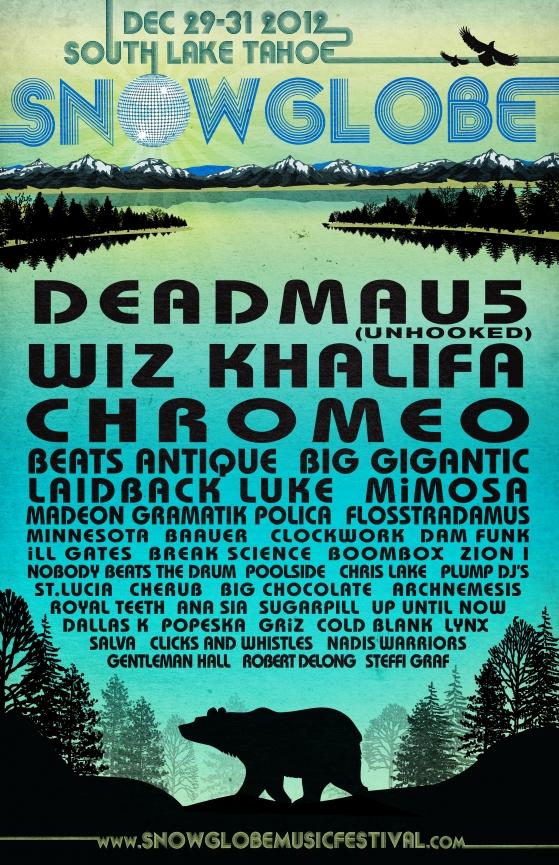 snowglobe poster2012 Win VIP Passes to SnowGlobe Music Festival 2012