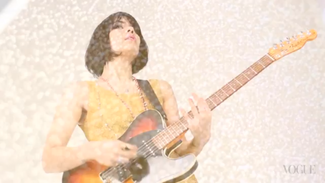batlashes lovesongs main Watch Bat for Lashes perform Marilyn on electric guitar