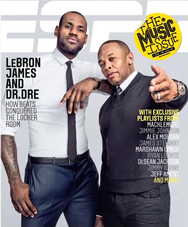 dr dre lebron james espn magazine e1360084141258 Dr. Dre and LeBron James are on the cover of ESPN Magazine