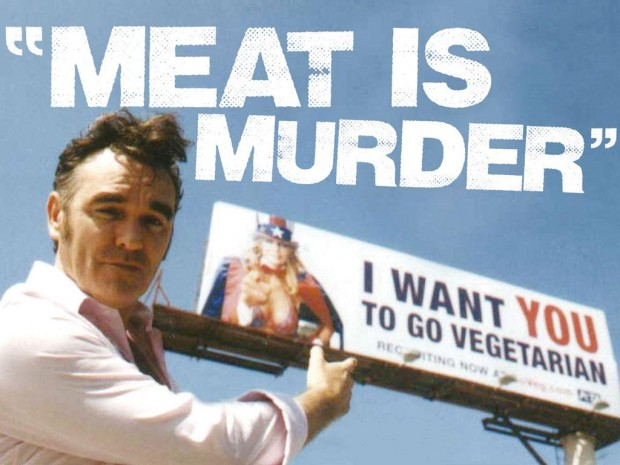 morrissey meat e1361235333484 Morrissey cancels Jimmy Kimmel Live! appearance over Duck Dynasty booking