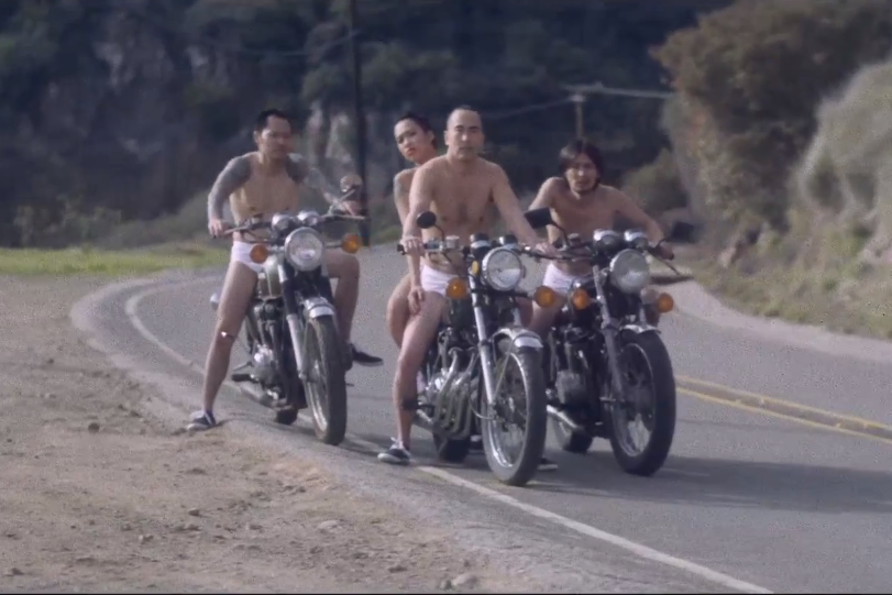 screen shot 2013 02 27 at 3 05 46 pm Hanni El Khatib lets loose a wild Asian motorcycle sex gang in the video for Family