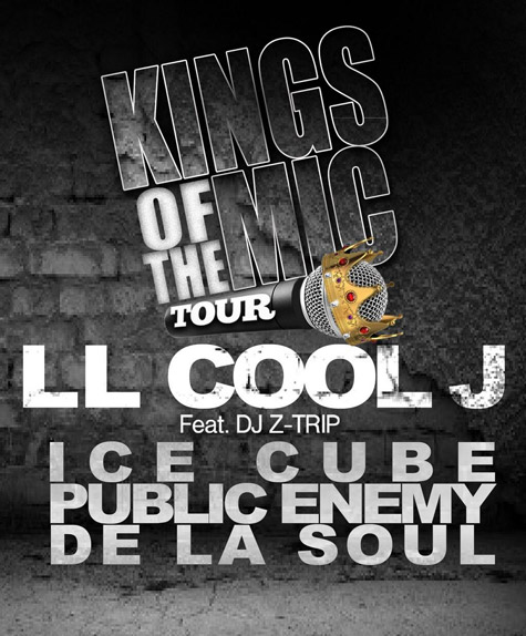 king of the mics tour1 Public Enemy, De La Soul, LL Cool J & Ice Cube team for Kings of the Mic Tour