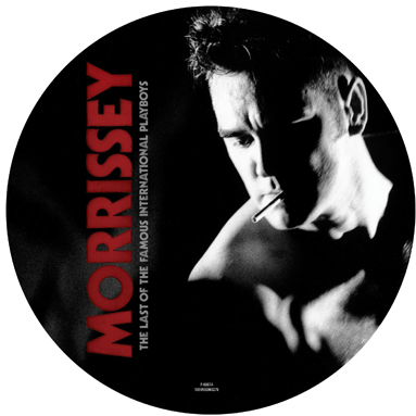 the last of the famous international playboys 7 inch picture disc vinyl single artwork Morrissey settles for Rick Astley on the cover of The Last of the Famous International Playboys reissue