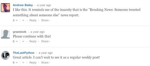 Weeks Worst News 1
