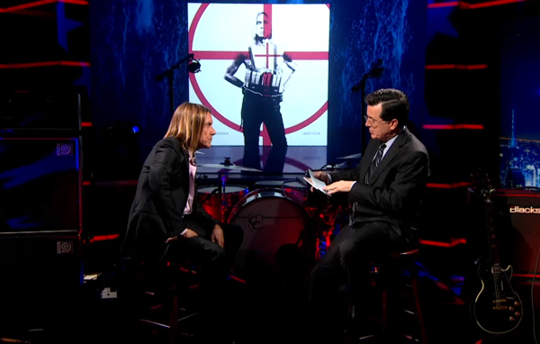 iggy600colbert Watch Iggy and the Stooges destroy The Colbert Report
