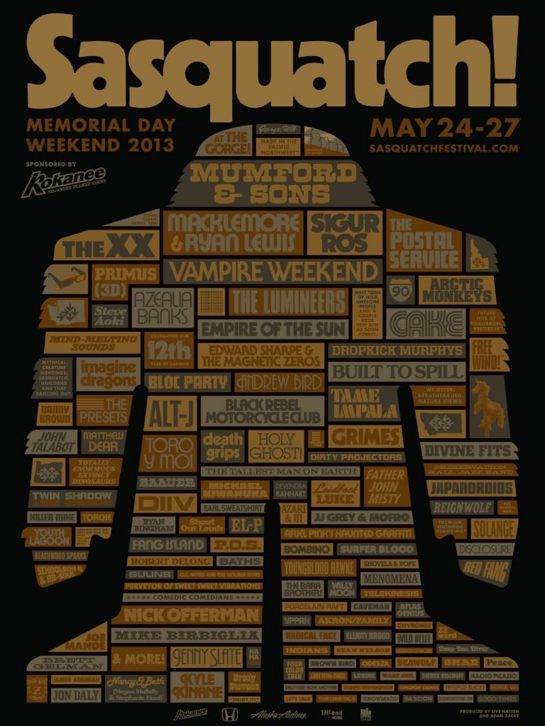 sasquatch 2013 poster