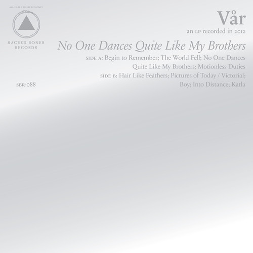 var no one dances Iceage offshoot VÃ¥r announce debut album, listen to first single The World Fell
