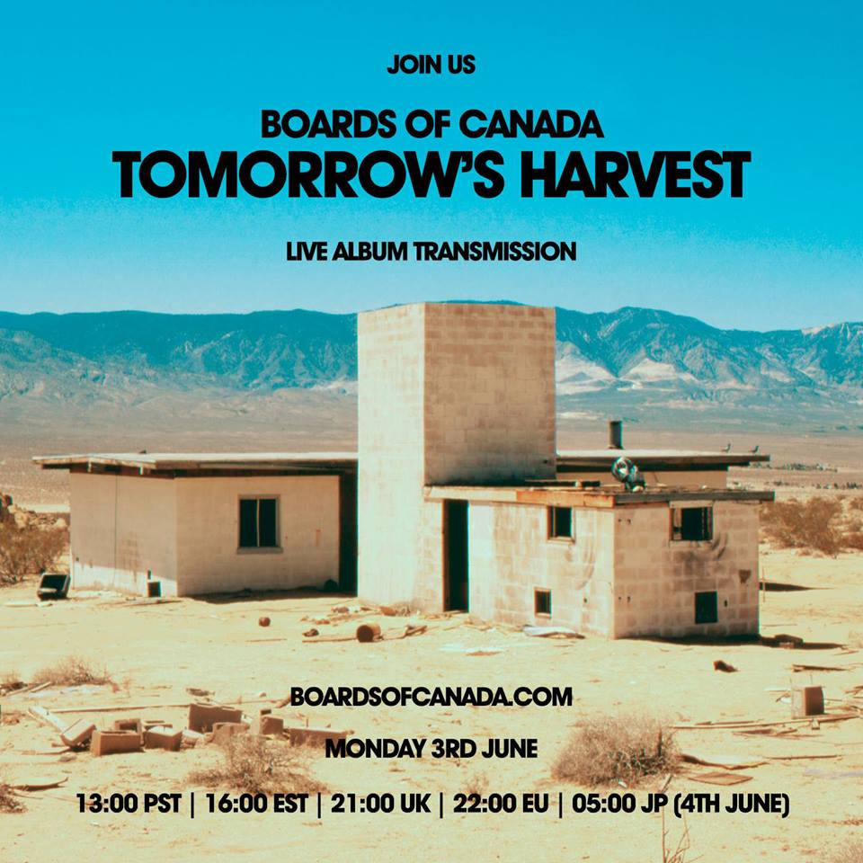 boardsofcanada Boards of Canada to stream new album Tomorrows Harvest in full on Monday