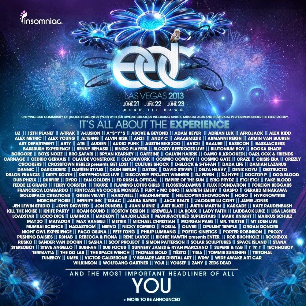 edc 2013 lineup