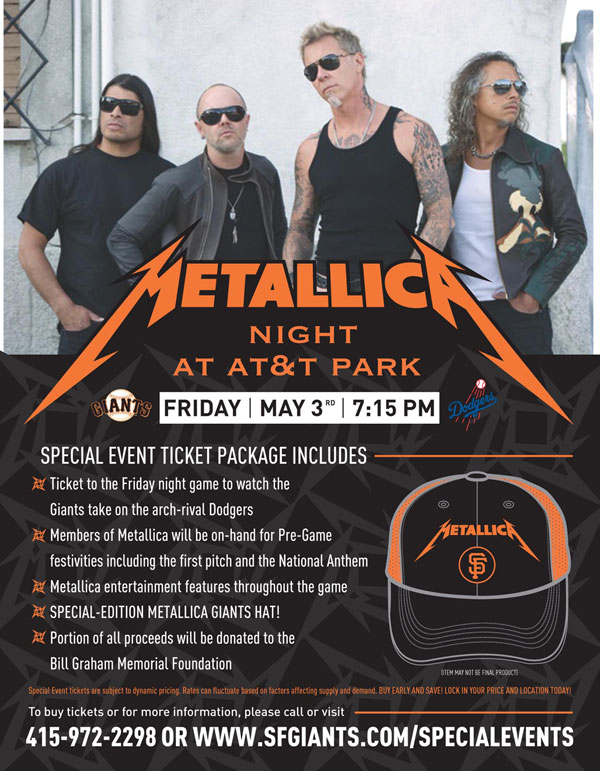 giants flyer metallica sm Watch Metallica perform The Star Spangled Banner at San Francisco Giants game
