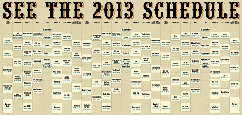 lolla sched 2013