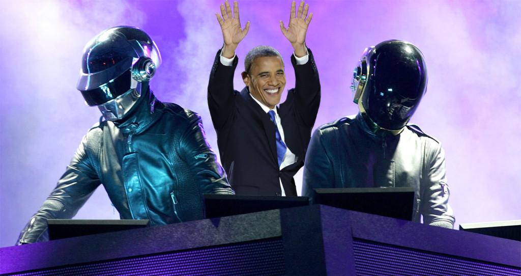 obama daft punk 1024x542 Finally, President Obama covers Daft Punks Get Lucky