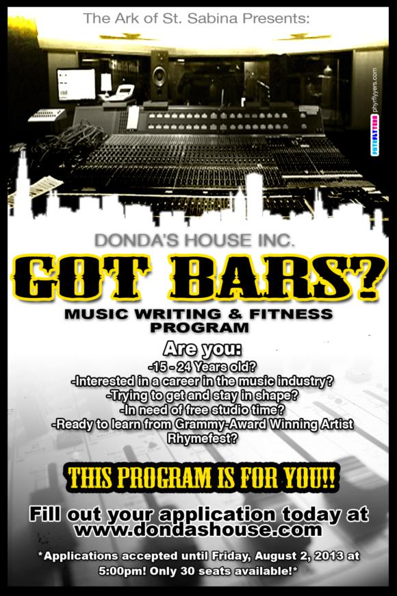got bars flyer1 Kanye Wests Donda House nonprofit starts music outreach program