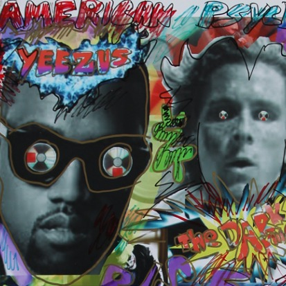 James Franco graffitied all over Kanye West's Yeezus artwork