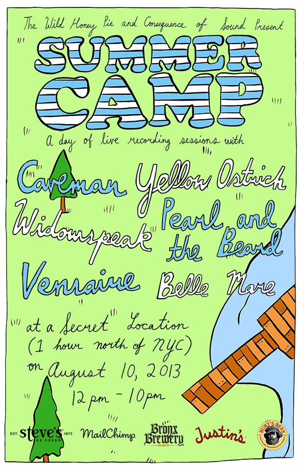 summercampposter Win a spot at Summer Camp 2013, presented by CoS x The Wild Honey Pie