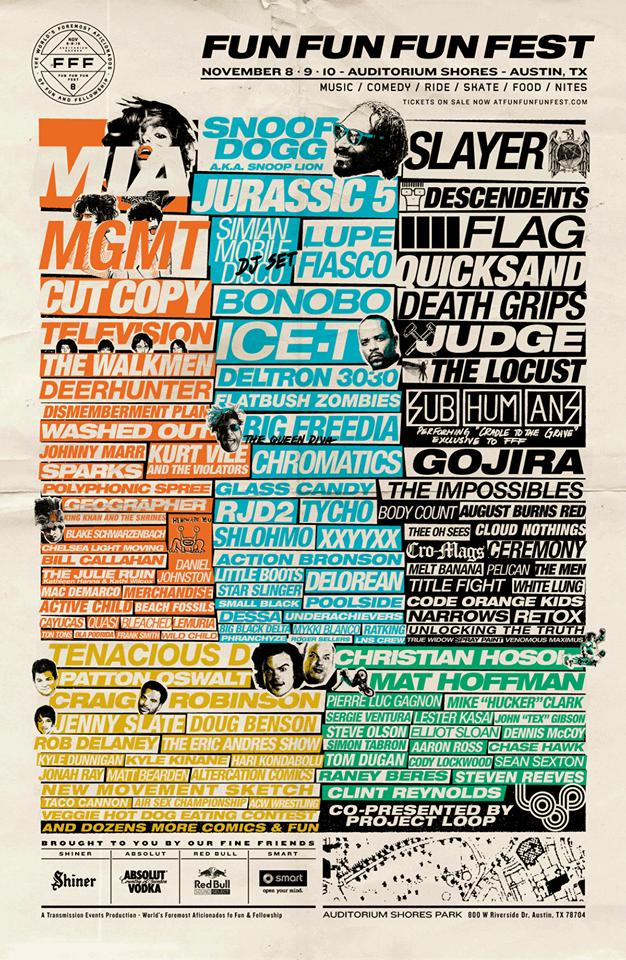 fff fest 2013 lineup
