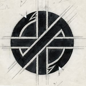 crasssymboloriginaldraft Not Just Another Cheap Logo: The Story of Crass and David King