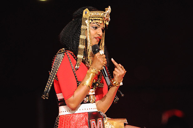 M.I.A. says her middle finger at Super Bowl was actually a spiritual gesture