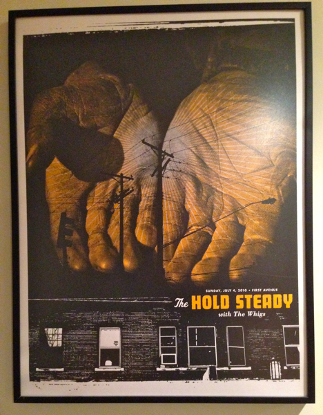 A few years back, my fiance and I hit up Minneapolis' First Avenue to see The Hold Steady for Fourth of July Weekend. I'll see Craig Finn wherever, but seeing them at a venue that launched my favorite band of all time --uh, The Replacements -- was a match made in heaven. This one hangs in the living room, back and center. - Michael Roffman