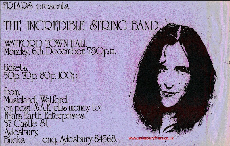Incredible String Band 1971 - I was a huge fan and think I saw the ISB fourteen times from 69-74. Pictured is the delightful Licorice who was Robin Williamson's girlfriend and a full band member for a time. - Tony Hardy