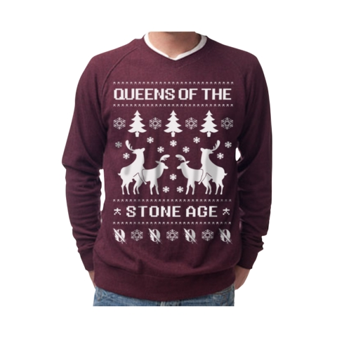 Weezer Christmas Sweater.Buy Queens Of The Stone Age S Christmas Sweater Right Now