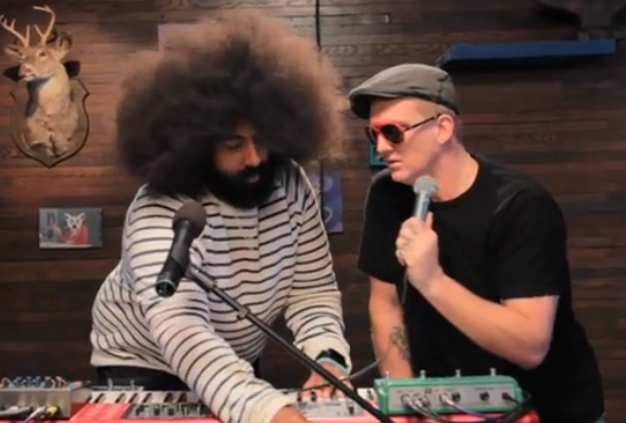 wattshommeduet1 Watch: Josh Homme and Reggie Watts sing a duet about taxidermy