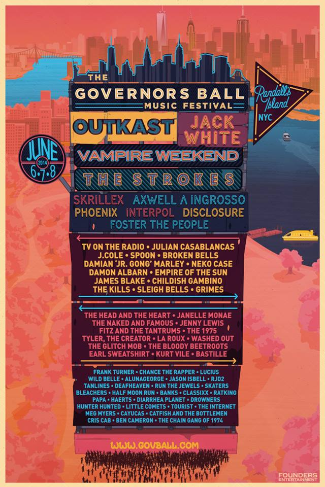 governors ball 2014 Top 10 Music Festivals in North America: Summer 2014 Power Rankings