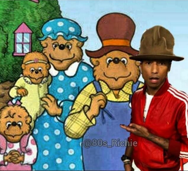 pharrellgrammyhatbears The story behind Pharrells Grammy hat