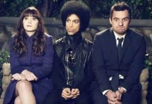 princenewgirlpic01 Heres Prince on the set of New Girl