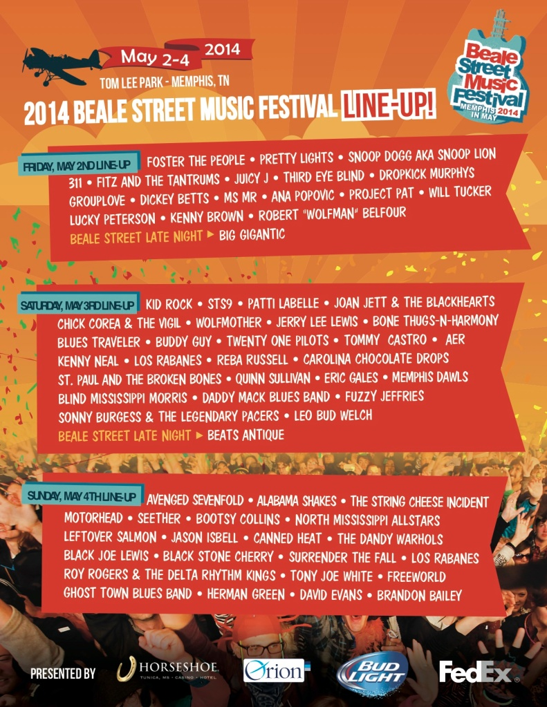 BSMF 2014 Daily Line-up
