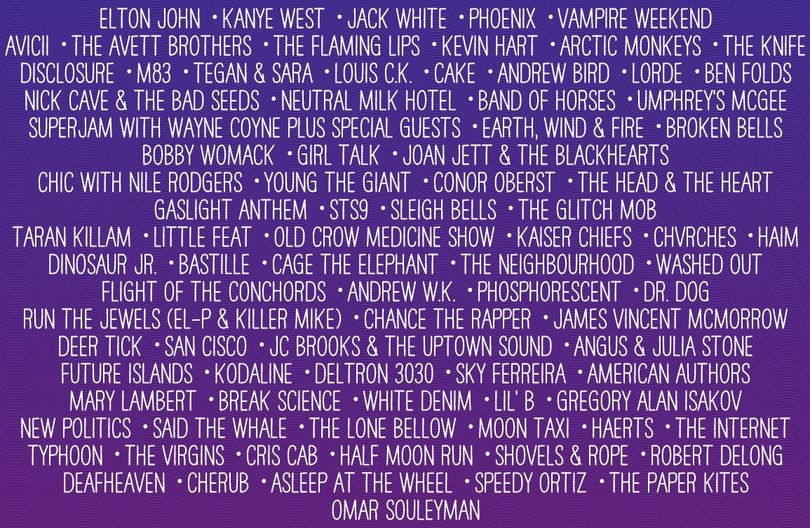 fake bonnaroo lineup